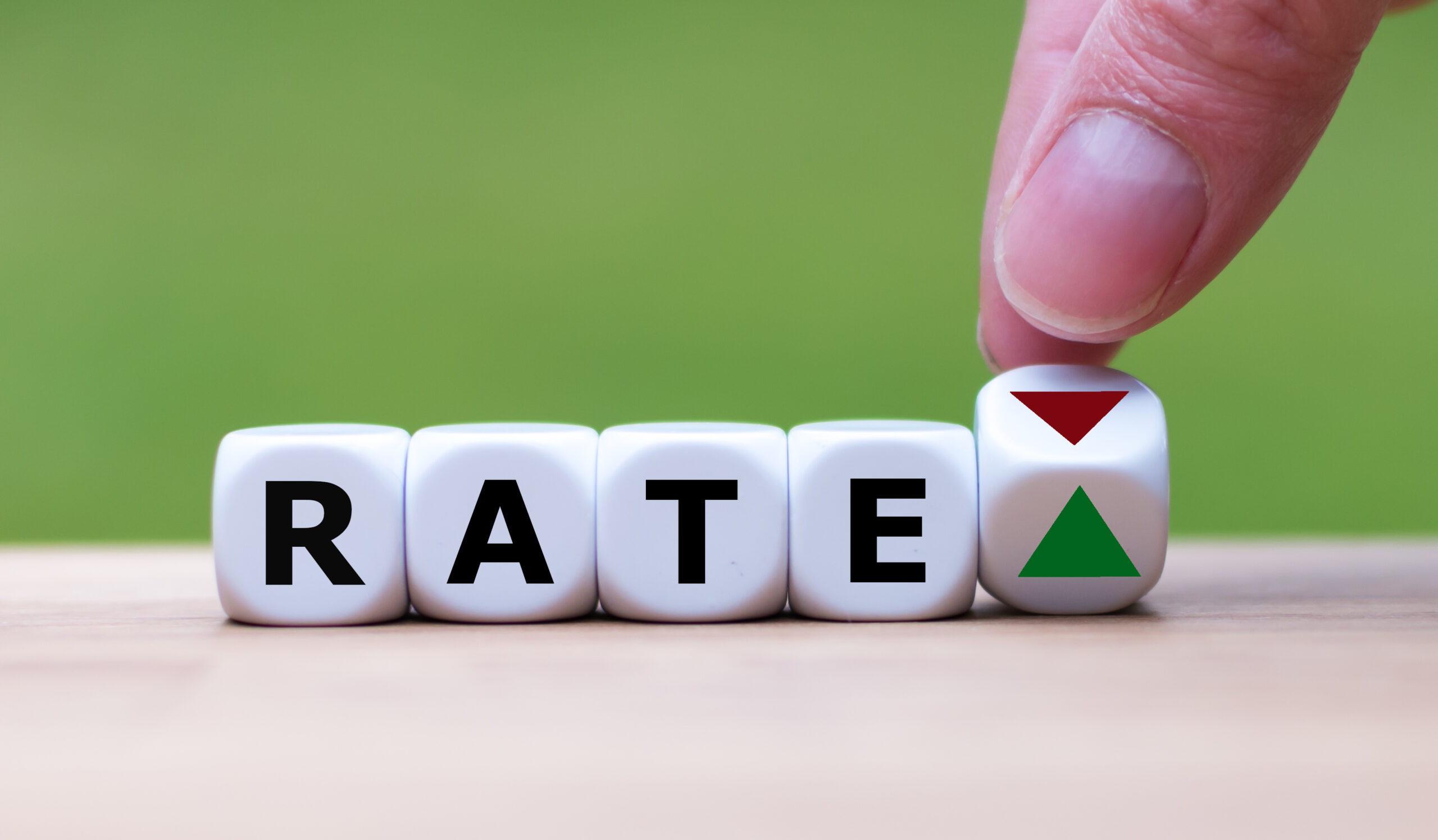 Symbol for growing rates.